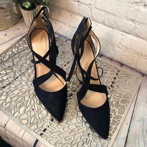 Nine West Blue Suede Heels Shoes Size: 10M